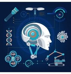 Hi-tech technology concept vector