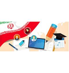 iran education school university concept with icon vector image vector image