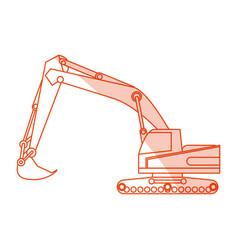 Orange silhouette shading construction heavy vector