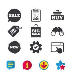 Sale speech bubble icon buy cart symbol vector