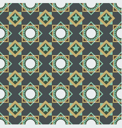 seamless pattern of circles triangles and squares vector image vector image