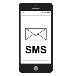 short message service sms mobile phone vector image vector image