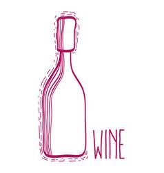 Wine bottle liquor beverage vector