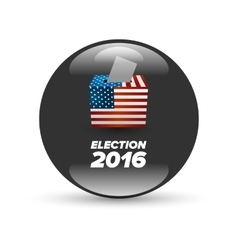 United states election vote badge vector