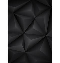 Abstract geometrical black background vector