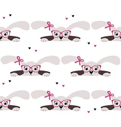 Cute bunny seamless background vector