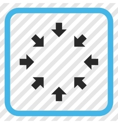 Compact arrows icon in a frame vector