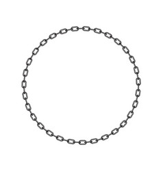 dark chain in shape of circle vector image