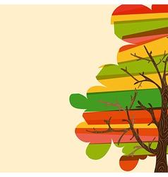 Multicolor tree background vector