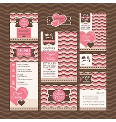 set of modern wedding cards vector image