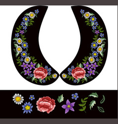 Design for collar blouses or dress vector