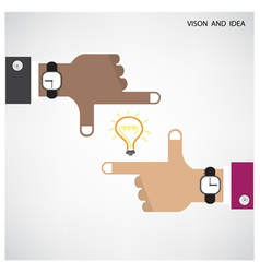 Hands of businessman and light bulb sign vector
