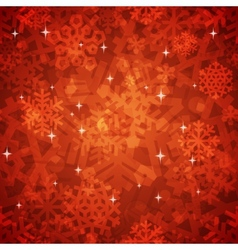 Shiny red snowflakes seamless pattern for vector