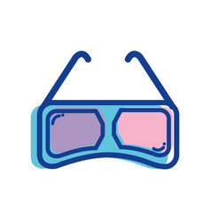 3d glasses to see movie in the cinema vector
