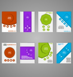 Business brochure set vector