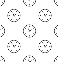 Time seamless pattern vector