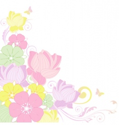 floral background with lotus vector image