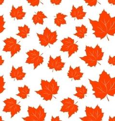Autumnal maple leaves seamless background vector