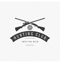 Hunting club vintage logo template emblem cross vector