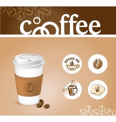 Coffee creative background vector