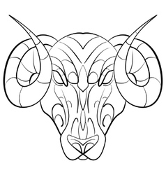 Hand drawn astrological zodiac sign Ram vector image