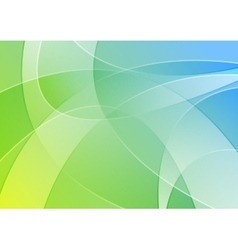 Abstract blue and green colorful wavy background vector image vector image
