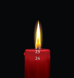 Advent candle red 23 vector image vector image