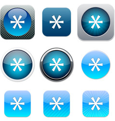 Asterisk blue app icons vector