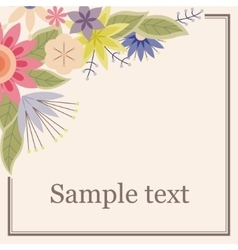 Background with flowers in the corner vintage vector image vector image