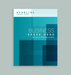 Business cover page template brochure vector