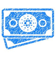 Cardano banknotes icon grunge watermark vector