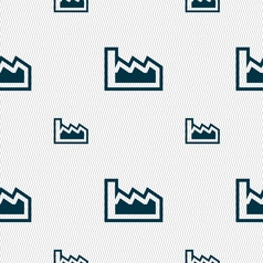 Chart icon sign Seamless pattern with geometric vector image