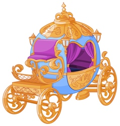 Cinderella Fairy Tale Carriage vector image vector image