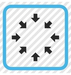 Compact arrows icon in a frame vector