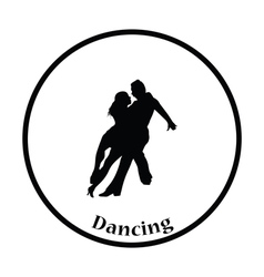 Dancing pair icon vector image