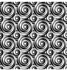 Design seamless monochrome swirl pattern vector