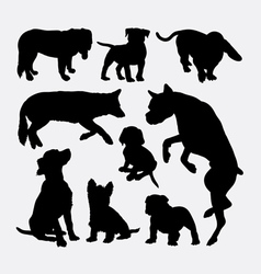 Dog pet animal silhouette 8 vector image