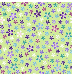 Flower seamless color pattern vector image