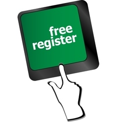 free register computer key showing internet login vector image