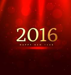 golden 2016 in red bokeh background vector image