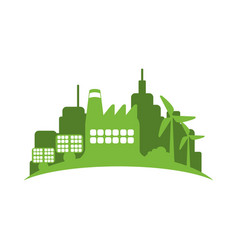 green city environment vector image