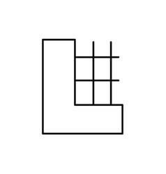 half part of wall icon vector image