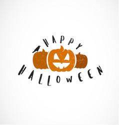 halloween pumpkins design element vector image vector image