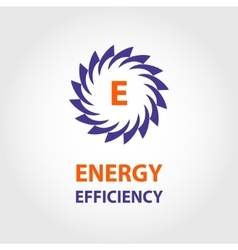 logo energy efficiency eco energy sun vector image vector image