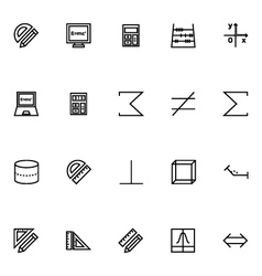 Mathematics icons 4 vector