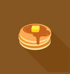 pancake with syrup and butter on top vector image