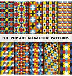 Pop art geometric background pattern style vector