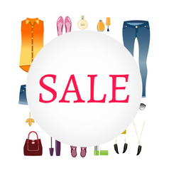 sale of women s clothing vector image vector image