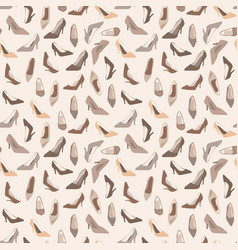 Seamless pattern with ladies shoes vector