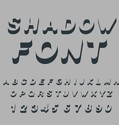 Shadow font Set of letters of drop shadow 3D vector image vector image